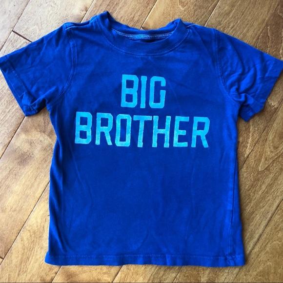 NWT Toddler Boys 18 BIG BROTHER Shirt Blue Short Sleeves 3T 2T 24 Mo